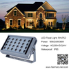 Outdoor IP65 Square 24W LED Wall Washer RGBW