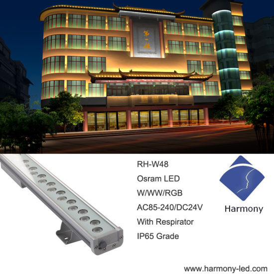 Exterior DMX512 Controller RGB 36*1W LED Wall Washer Light